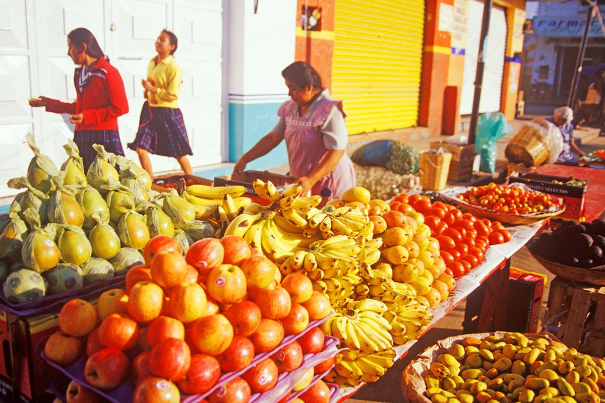 fruit is sold in the mercado in Zaachila, Oaxaca, Mexico