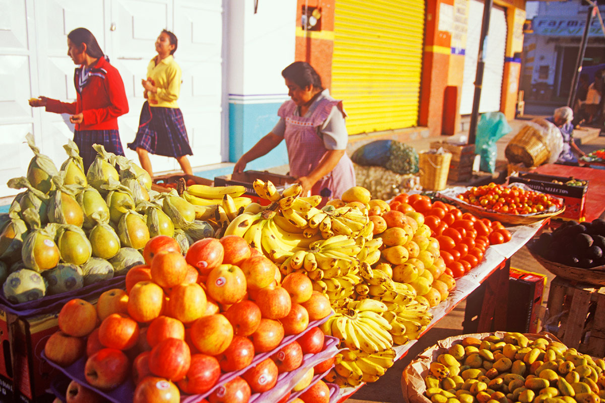 fruit is sold in the mercado in Zaachila, Oaxaca, Mexico