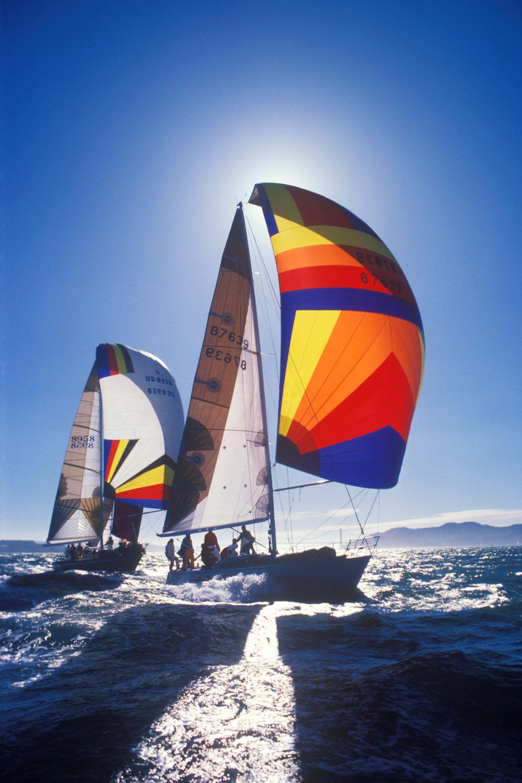 sailboat race, Big Boat Series, San Francisco, California