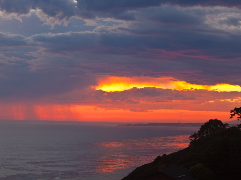 stormy sunset over the Santa Barbara Channel