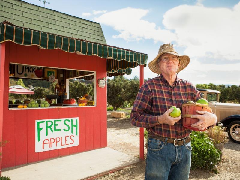 portrait of apple farmer