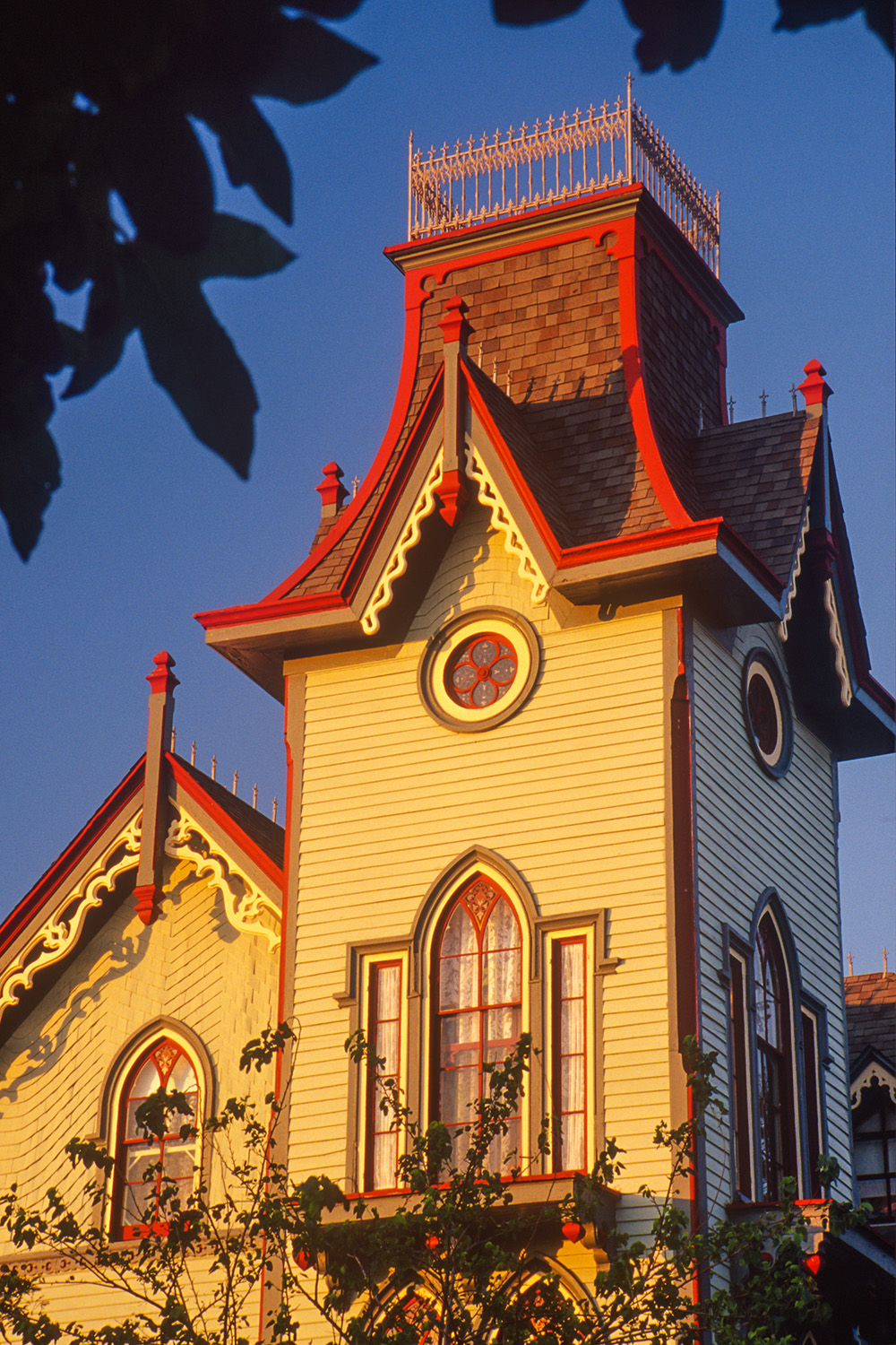 Photograph of Victorian architecture in Cape May, New Jersey
