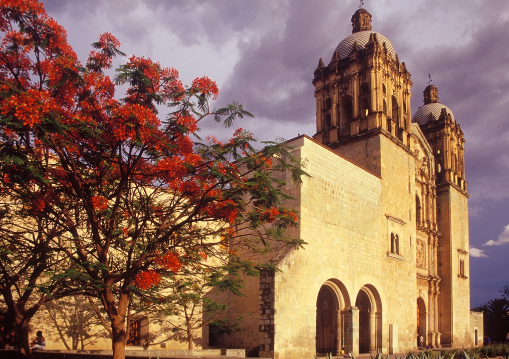 architecture photograph of cathedral in Oaxaca, Mexico