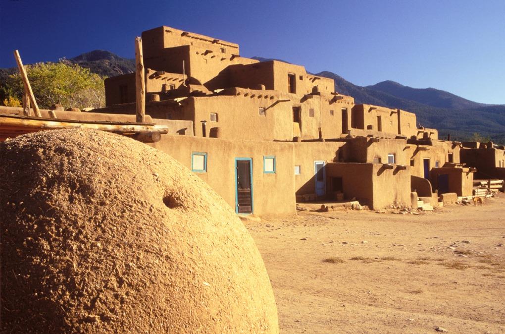 Photograph of Taos Indian Pueblo architecture