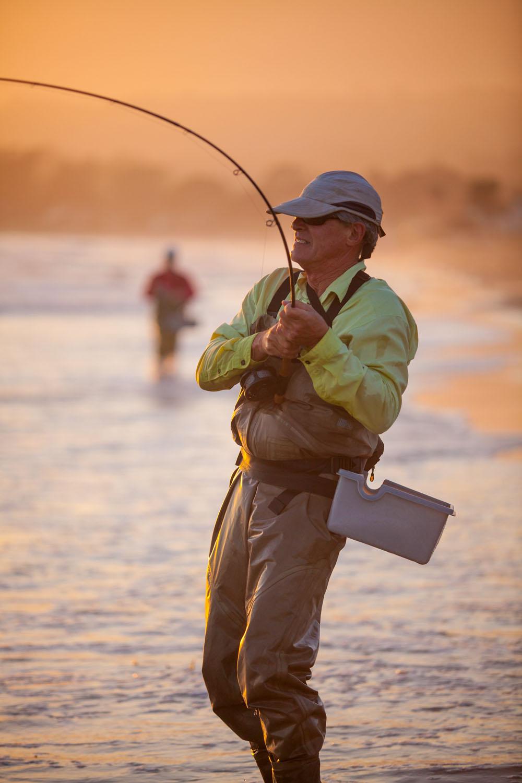 fisherman rim lit with backlighting