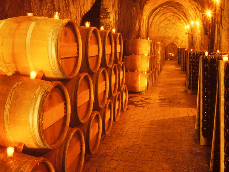 Barrels of wine and perspective