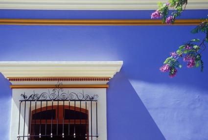 colorful building details