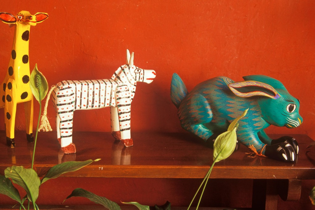 carved wooden animal folk art