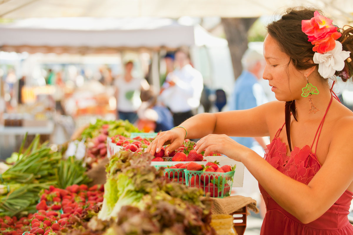 Portrait of vendor at Farmers Market
