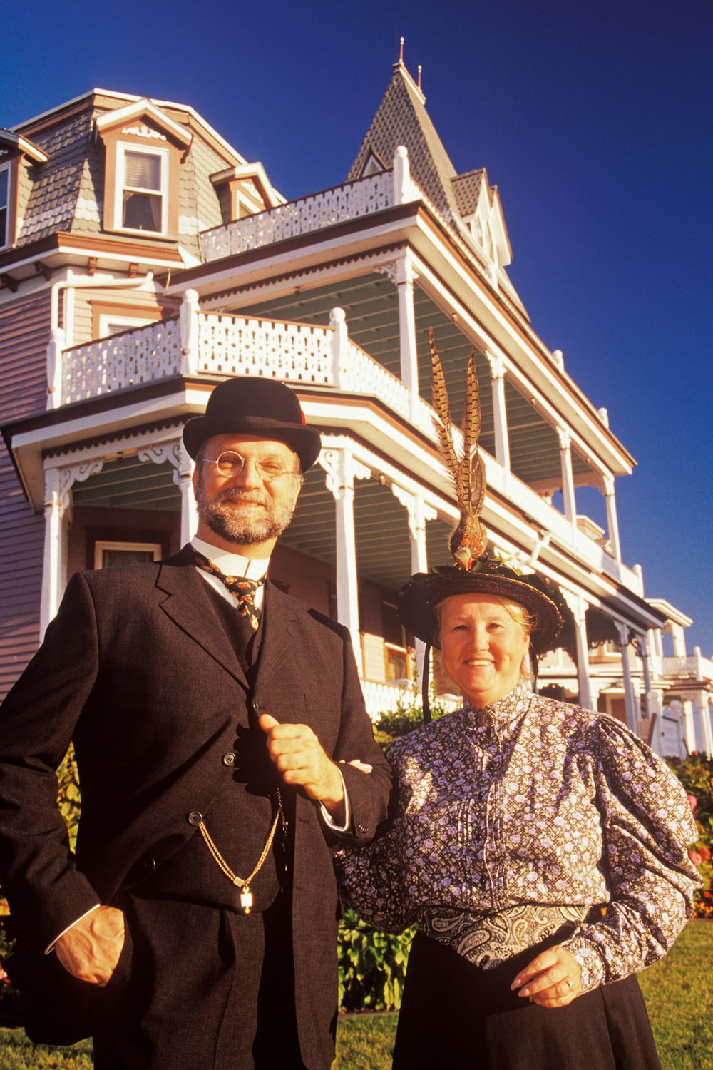 Portrait of Victorian couple, Cape May, New Jersey