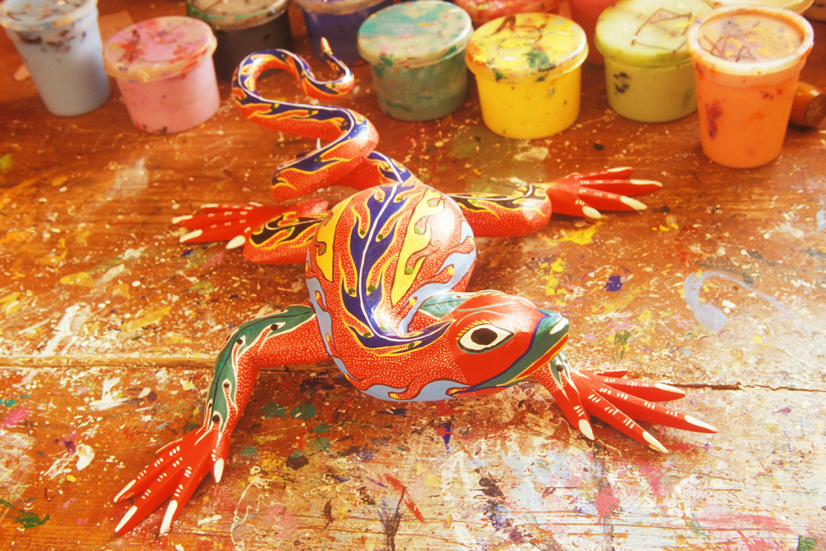 Alebrije in window light