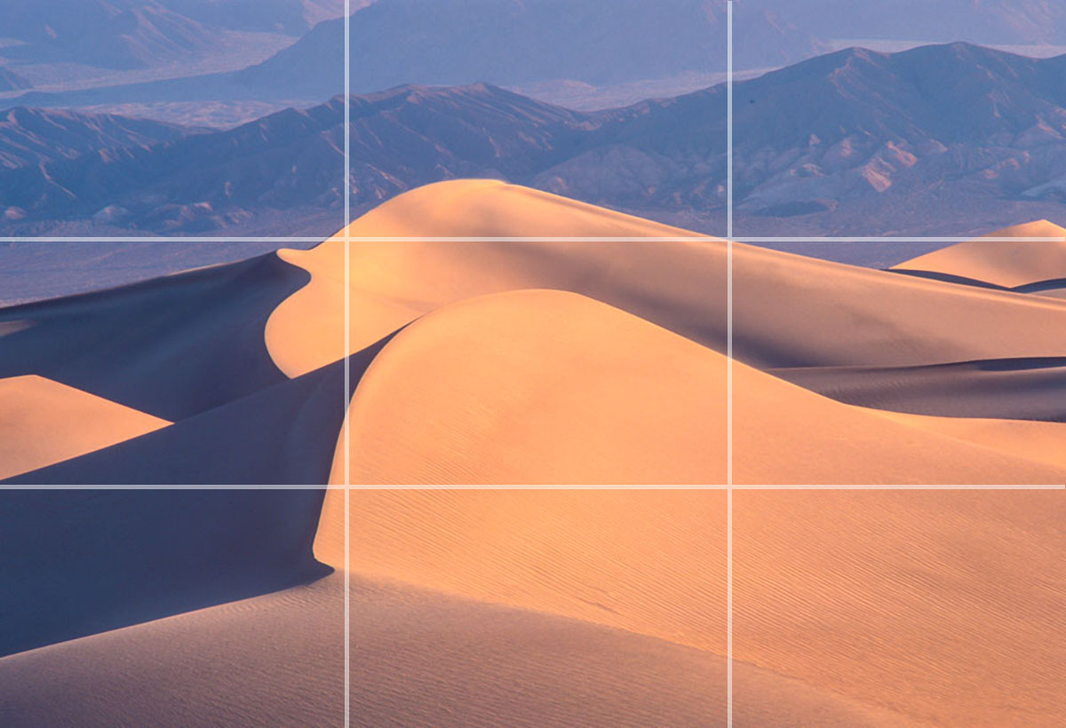 sand dunes in thirds composition