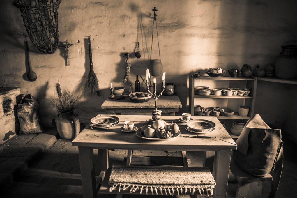soldier's quarters, La Purisima Mission State Historic Park, Lompoc, California