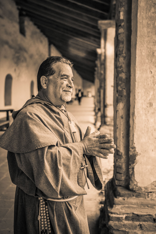 Spanish priest, La Purisima Mission State Historic Park, Lompoc, California