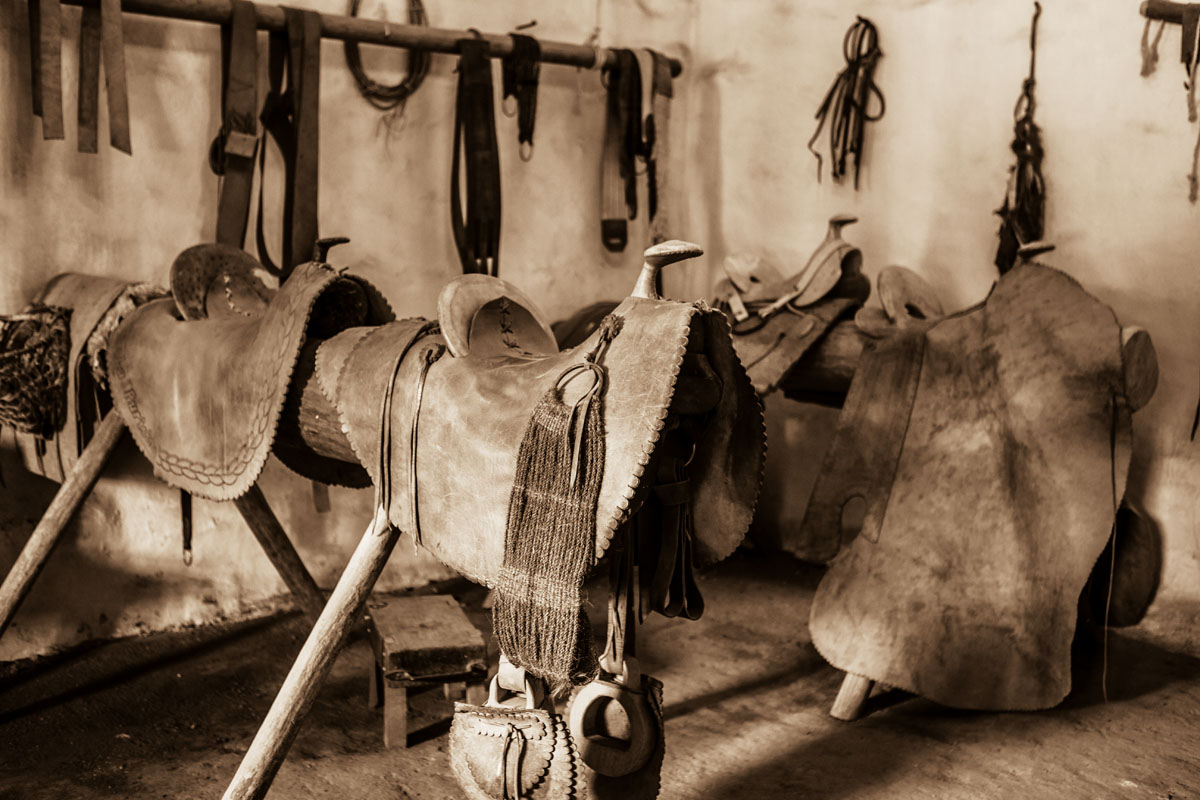 saddle maker's shop, La Purisima Mission State Historic Park, Lompoc, California