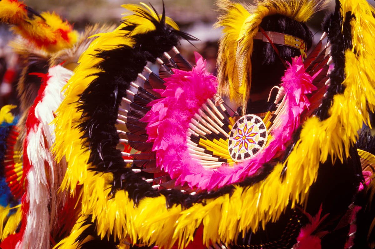 photographing dancer regalia at a powwow