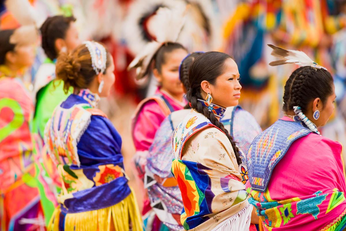 Women's Fancy Shawl Dancers.