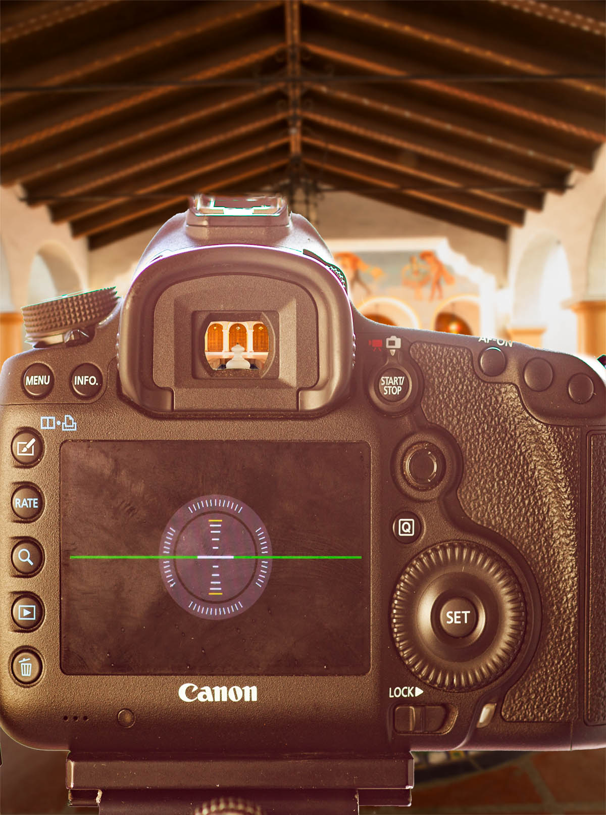 Built in camera level