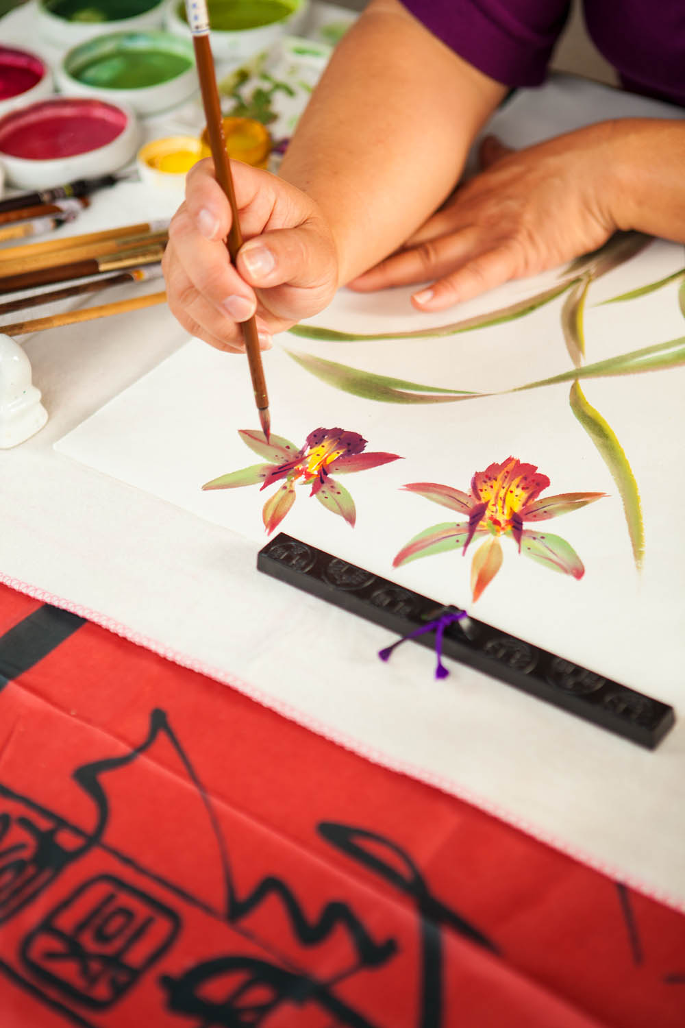 Chinese Brush Painting of orchid