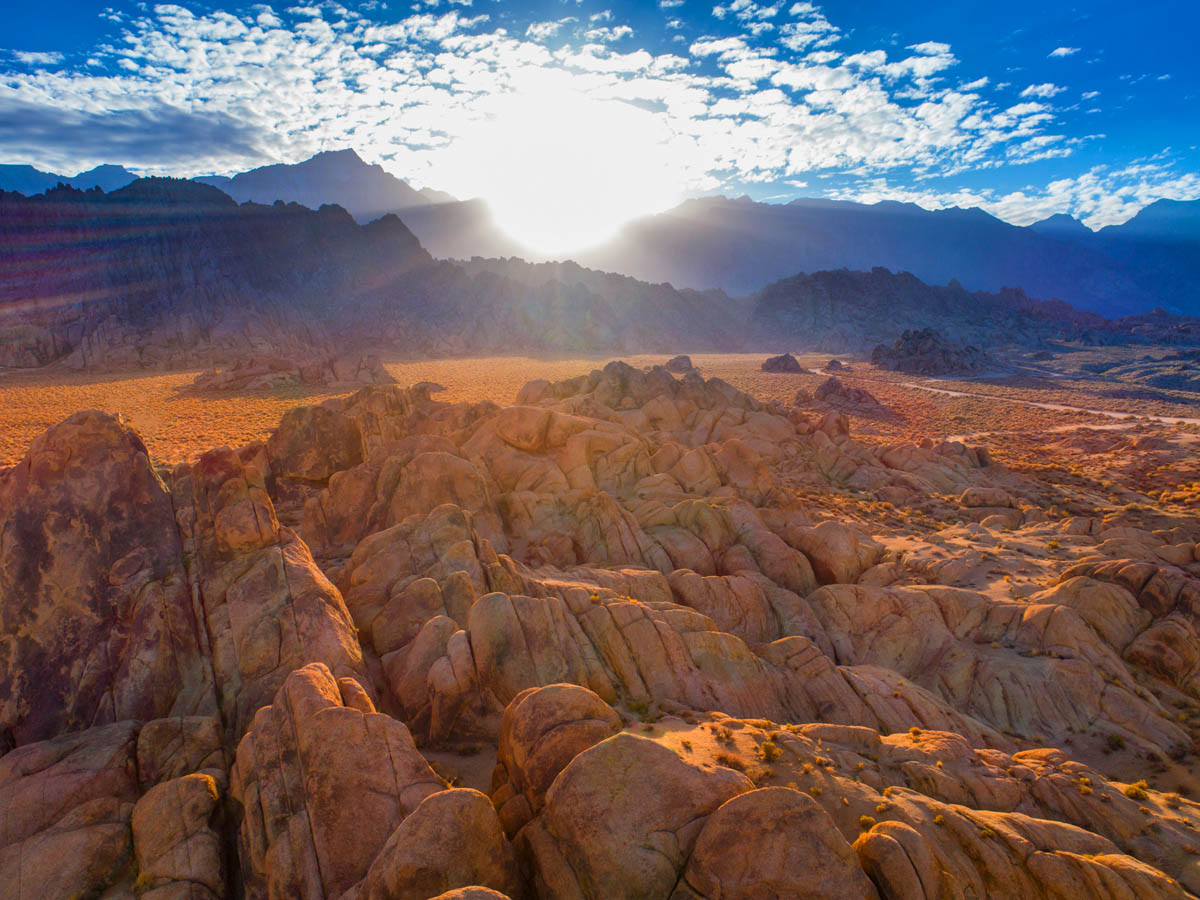 Alabama Hills at sunset