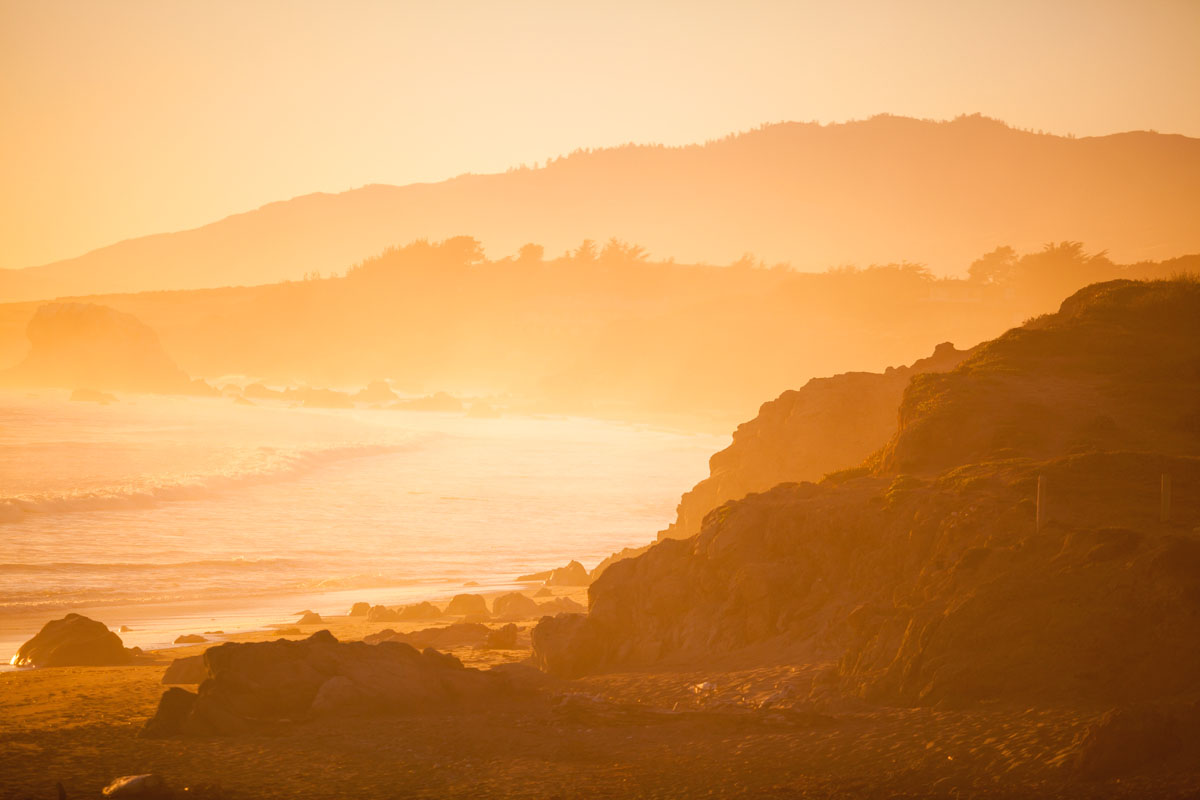 Original beach sunset before cropping.
