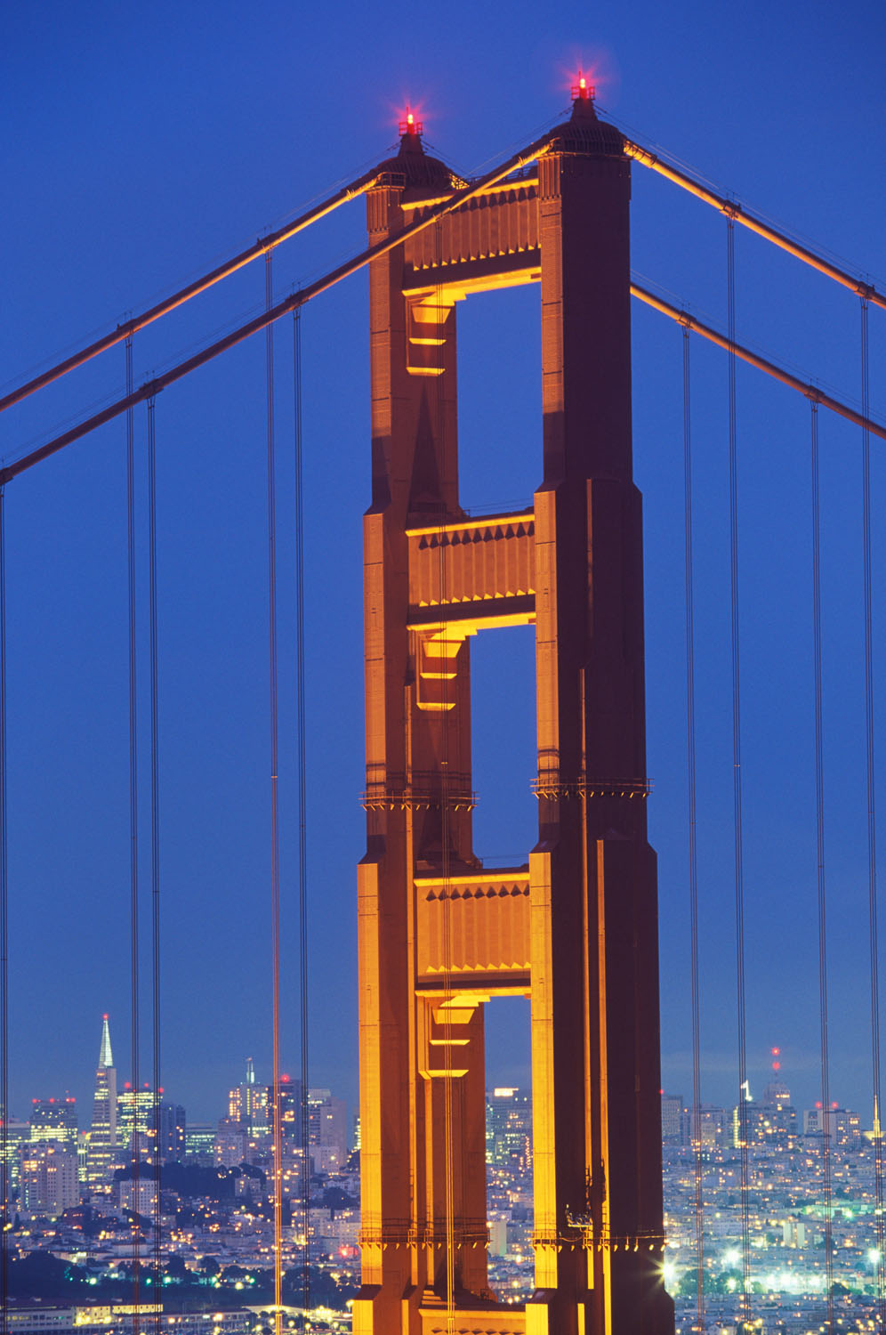 Golden Gate Bridge photographed with a 70-200mm zoom lens