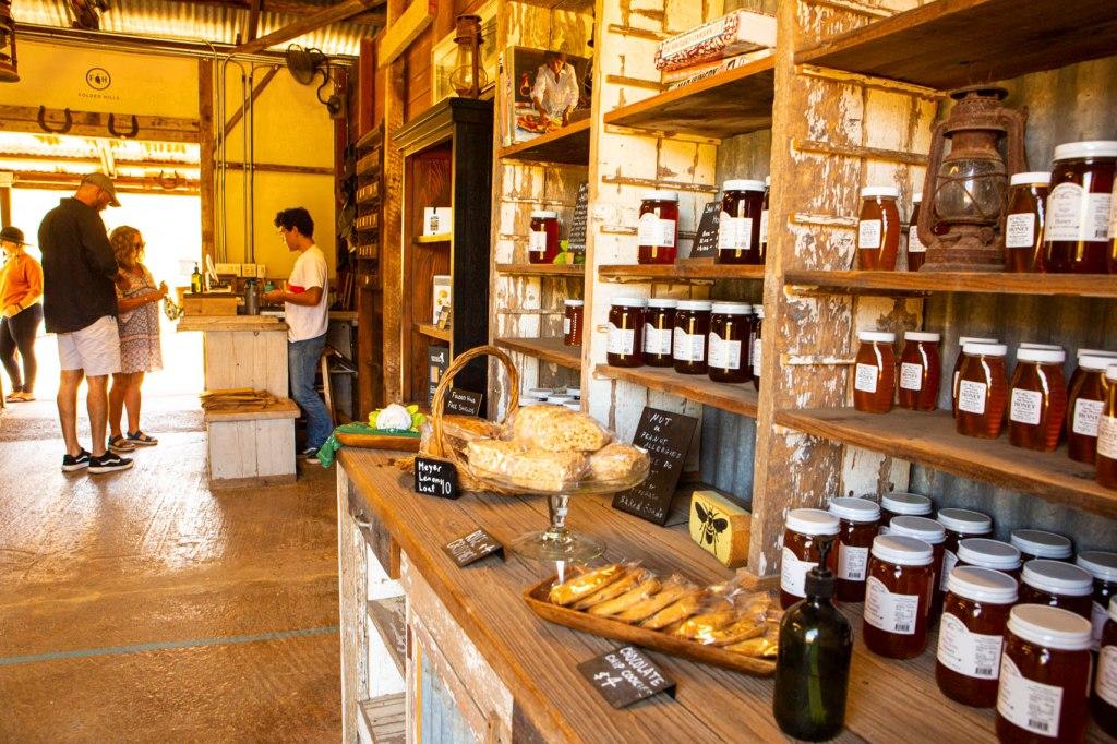 honey and baked goods for sale, Folded Hills Farmstead, Santa Ynez Valley, California