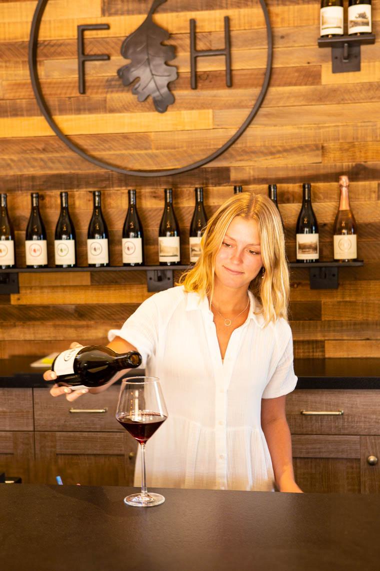 wine tasting room, Folded Hills Farmstead, Santa Ynez Valley, California