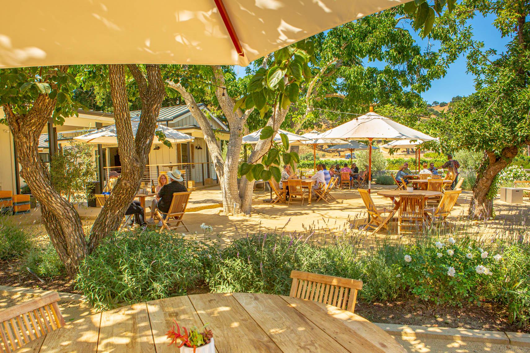 patio of wine tasting room, Folded Hills Farmstead